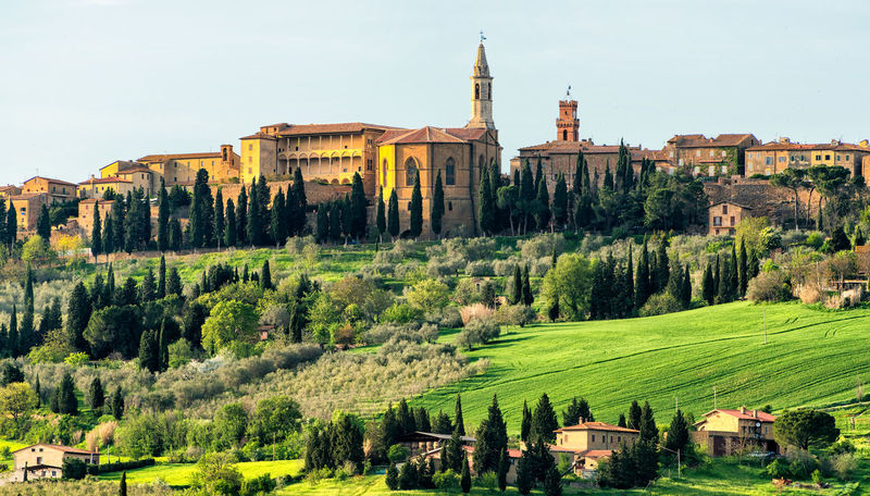 tuscany Italia Rome Tuscany Abbey Architecture Belief Building Building Exterior Built Structure Clear Sky Day Green Color History Nature No People Place Of Worship Plant Real People Religion Sky Spirituality The Past Travel Destinations Tree Tuscany Italy