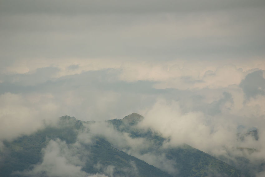 autumnal weather - dull sky Beauty In Nature Cloud - Sky Cloudscape Day Environment Fog Hazy  High Angle View Idyllic Majestic Mountain Mountain Peak Mountain Range Nature No People Non-urban Scene Outdoors Scenics - Nature Sky Tranquil Scene Tranquility