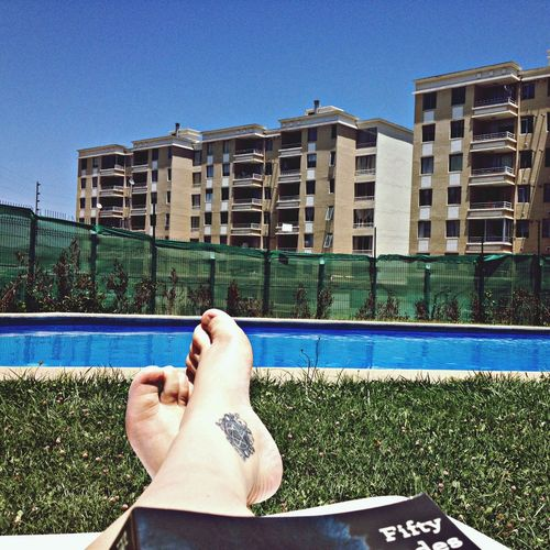 FiftyShadesOfGrey Pool Feet Tattoo