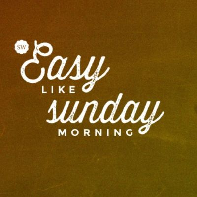 Taking it... Easy Like Sunday Morning. Sunday Relax Lionelrichie Bomdia