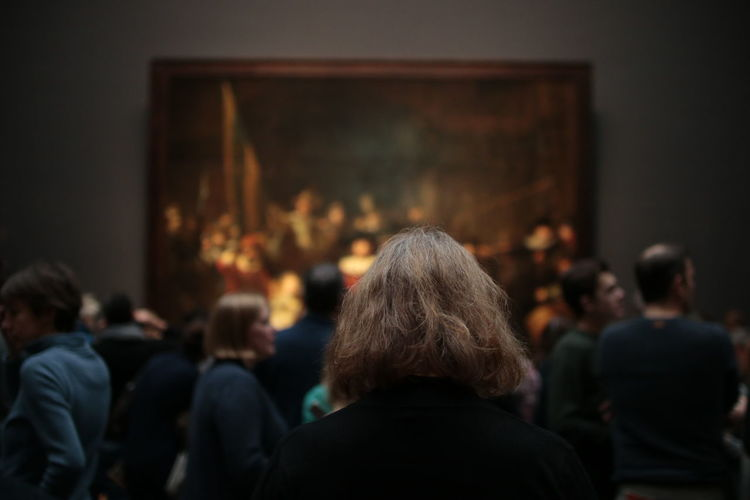 Adult Adults Only Audience Crowd Focus On Foreground Illuminated Indoors  Large Group Of People Men People Real People Rear View Watching Women
