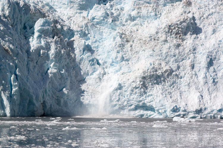 Melting Glacier In Sea