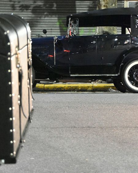 Bokeh Photography Travel Destinations Night Transportation Streetphotography City Street Buenos Aires, Argentina  TheWeekOnEyeEM Urbanphotography Nikon 18-200mm Vintage Cars Ford Ford Model A Old Car 1920's FordA 1930 Vehicles Focus Object Old-fashioned Tourism Travel Street Lifestyles