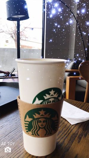 休假的早餐 滿滿的星光,就是ㄧ整個開心。Full Of Stars, Is ㄧ Happy. Table Drink Coffee Cup Indoors  No People Close-up Day
