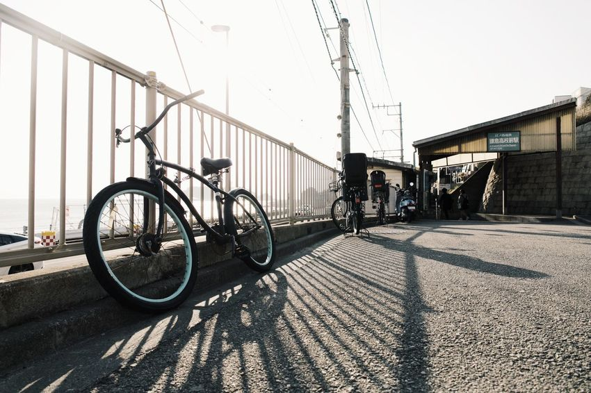 Vscocam Streetphotography Kamakura Bicycle Transportation Built Structure Day Outdoors Sunlight Men City
