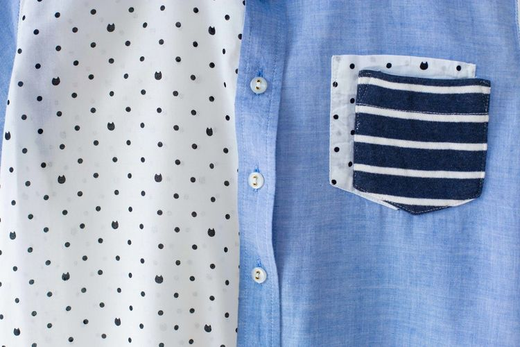 Button down shirt and pocket.close up. Beige Casual Clothing Designs Adult Beauty Blank Blouse Blue Button Down Shirt Casual Clothing Close-up Cloth Clothes Clothing Color Element Empty Fabric Linen Minimal Pattern Space Striped Style Textile
