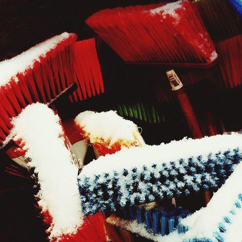 Snow falling on brooms. Streetphoto_color Eye4photography  EyeEm Best Shots
