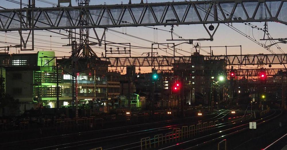 夕焼け 金町駅