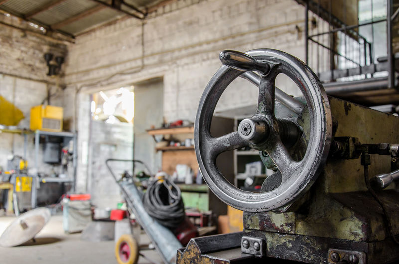 Old machine in factory
