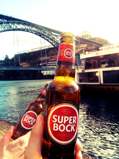 Beer Beers Bottle Bridge Bridges Chill Chilling Chillout Close-up Focus On Foreground Friends Friends ❤ Friendship Oporto Peace And Quiet Ponte Dom Luis Porto Portugal Relax Relaxing Ribeira River Riverside Ship Super Bock