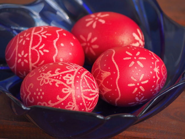 Celebration Close-up Day Easter Easter Egg Easter Eggs Easter Ready Easter Traditions Food Food And Drink Freshness Healthy Eating Hungarian Tradition Hungary Indoors  No People Red Red Eggs Table
