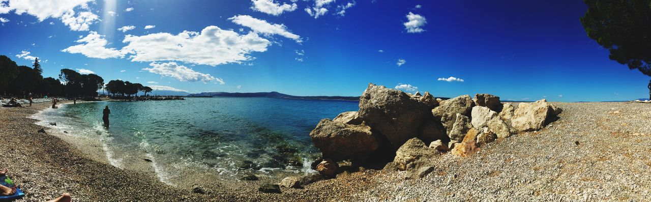 Blue Sky Blue Crikvenica Croatia EyeEm Selects Sky Sea Nature Water Beauty In Nature Rock - Object Beach Day
