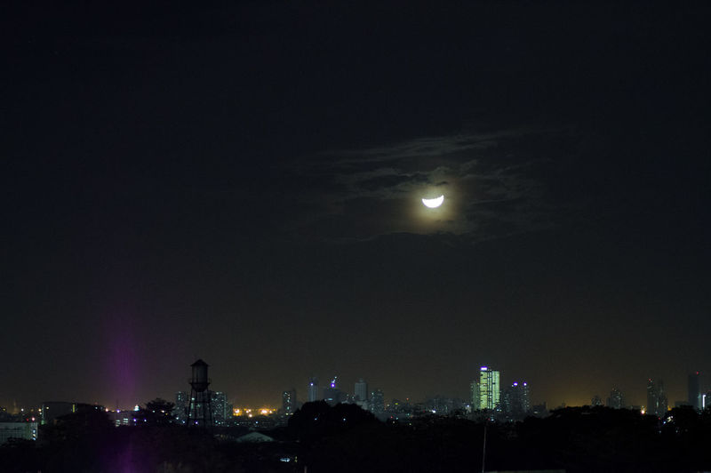 Moonrise Over Makati Moon Moonlight Moon Over City Night Lights Midnight Night Illuminated Sky Moon Architecture No People Nature City Beauty In Nature Cityscape Astronomy Scenics - Nature
