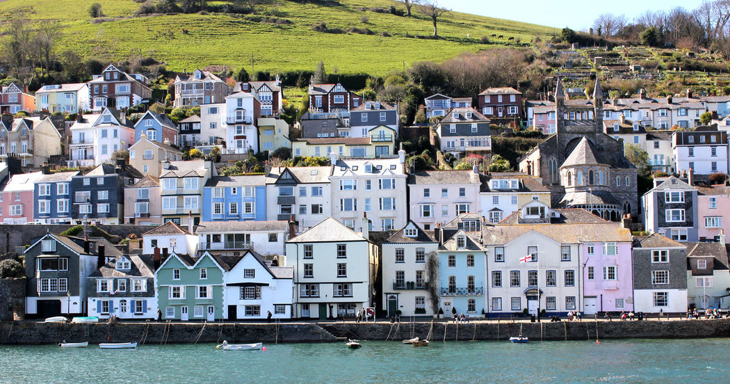 """""""Looking over to Dartmouth from Kingswear"""" British Building Colourful Cottage Cottage Life Cottages Dartmouth Devon English Seaside Exterior Harbour View Holiday House Kingswear Residential Building Residential Structure Sea Seaside Self Catering Staycation Traditional Traditional House"""