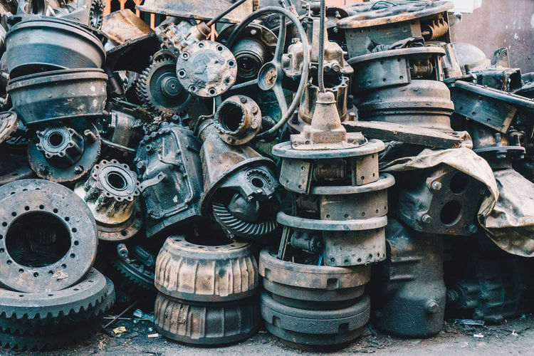 Metal Mode Of Transportation Transportation Wheel No People Machinery Day Industry Tire Abandoned Equipment Machine Part Large Group Of Objects Obsolete Stack Technology Old Outdoors Rubber Decline Deterioration Industrial Equipment