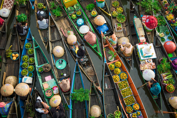 traditional market #landscape #nature #photography Large Group Of Objects Day High Angle View Retail  Choice Group Of People Outdoors Market Hanging Variation Architecture Representation Multi Colored For Sale Built Structure Real People Nature