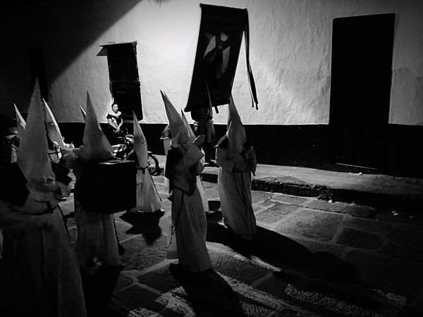 Semana Santa Viernes Santo Good Friday Good Friday Procession Catholic Church Catholicism Colombia Santander NOT The Klu Klux Klan Piety Pious Religious Processions Religious Festival Night-time Procession Break The Mold The Week On EyeEm