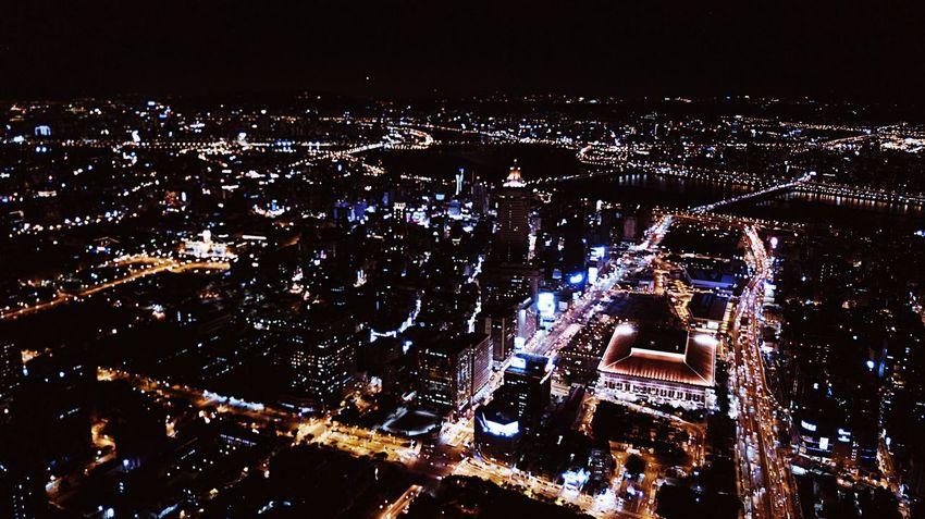 Illuminated Night Cityscape Building Exterior City Architecture Outdoors Tree No People Sky Dji Mavic Pro Dronephotography