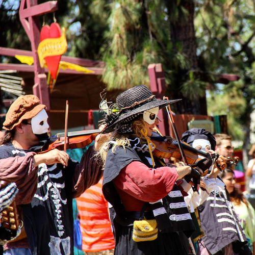 Masked fiddlers Costumes Mask Violin Cosplay Photanaka Portrait Portraits Renfaire Showcase: November