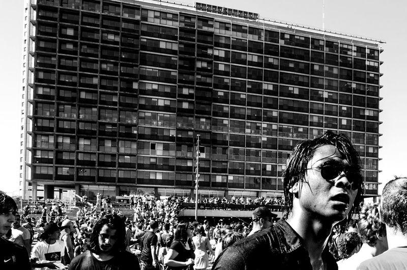 Black & White Black And White Blackandwhite Blackandwhite Photography Building City Cityhall Crowd Drama Dramatic Israel Japanese  People Telaviv Urban WaterWar Black & White Friday