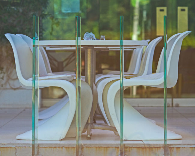 Seating Chair Eric Barnes Photography Mid Century Modern Patio Pattern Restaurant Seating Arrangements Table Pastel Power