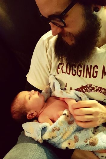 Baby SEAN and I for the first time! 2 Weeks Old