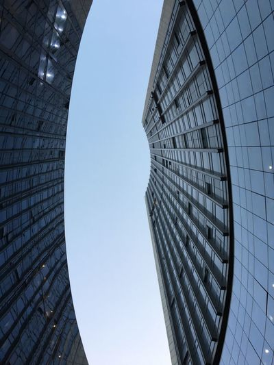 Architecture Skyscraper Low Angle View Modern Built Structure No People Clear Sky Building Exterior Sky Day Futuristic Outdoors City Office Park EyeEmNewHere Colour Your Horizn