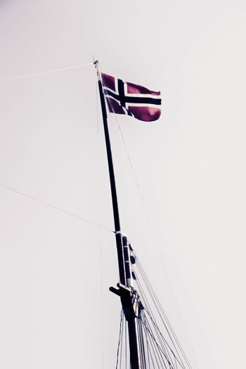 Norway 🇳🇴 EyeEmNewHere Norway🇳🇴 Norway Norway Flag Nordic Norweigian Flag Patriotism Low Angle View No People Clear Sky Day Outdoors
