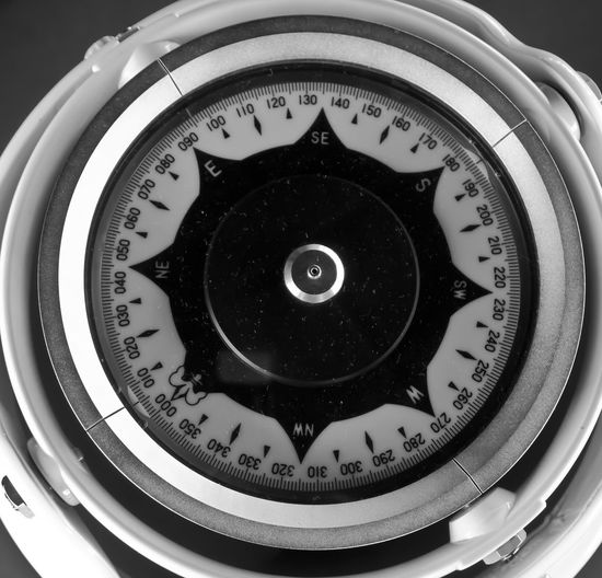 Compass on The Battleship No People Close-up
