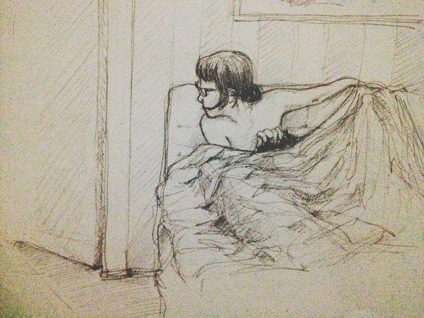 Drawing Sketch Enjoying Life Fornication