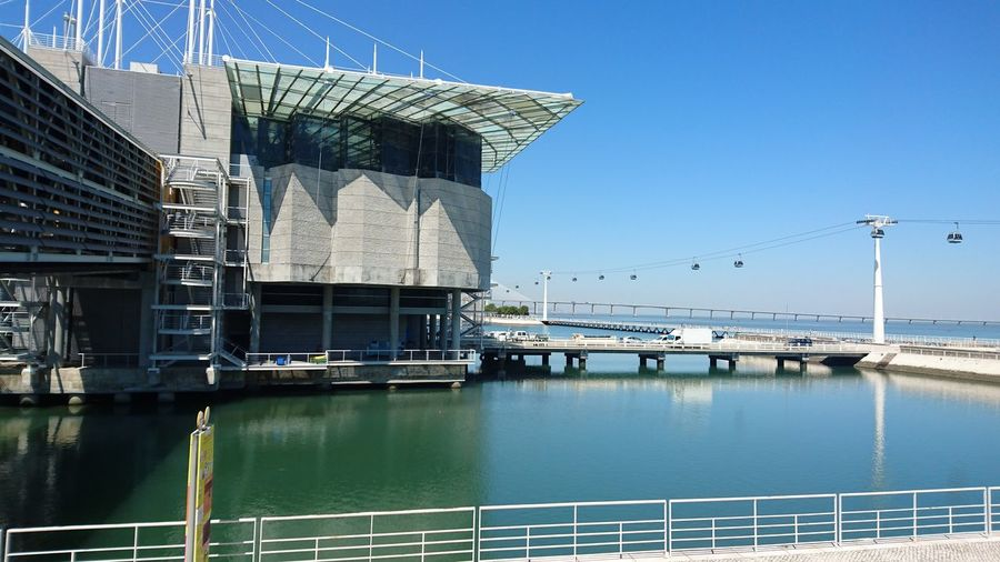 Portugal Building Exterior Architecture Waterfront Clear Sky Outdoors City Lissabon, Oceanário Oceanário De Lisboa Architecture Built Structure Clear Sky Building Exterior Sea Modern Waterfront Reflection Calm Tall - High Day Outdoors Development Sky