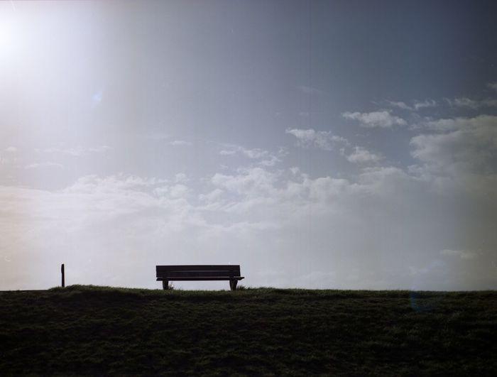 Bank Cloud - Sky Dijk Epson F3200 Kodak Portra160 Mamiya 645 Sun Analogue Photography