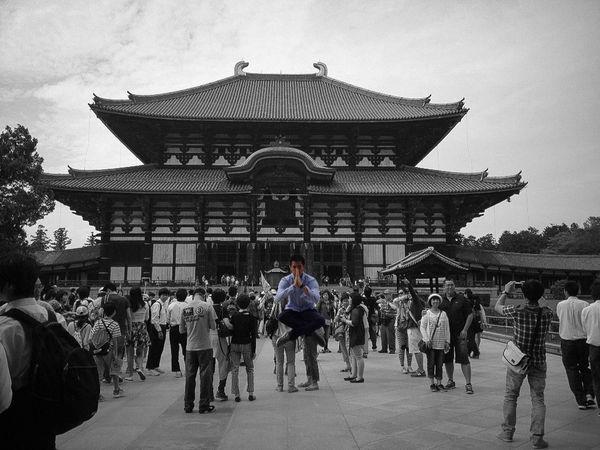 Japan Nara Japanese Temple Holiday Chw2004 Meditation & Levitation Levitation Photography Black & White The Action Photographer - 2015 EyeEm Awards