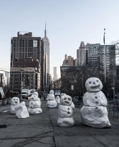 Snow Winter 2015 Streetart Empire State Building Timyoungiphoneography Manhattan Gothams_ambassador