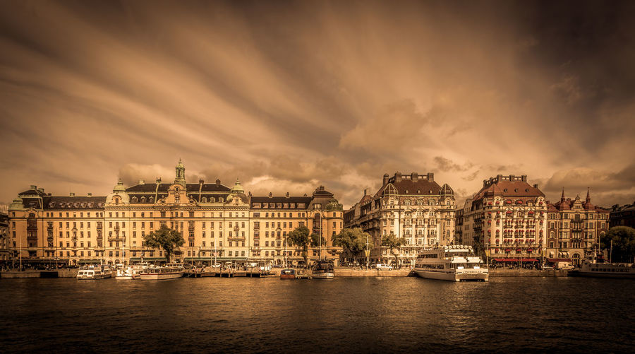 View of stockholm waterfront