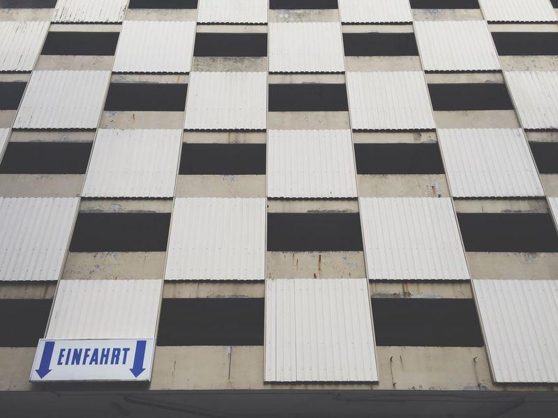 Entrance sign on German parking garage Entrance Eingang Parking Garage Garage Old Architecture Urban Geometry Sign Hamburg German Germany