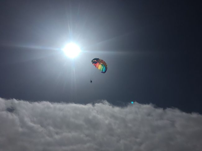 Above good and evil Flying Extreme Sports Sky Sunlight One Person Outdoors Cloud - Sky Tranquility Enjoying Life