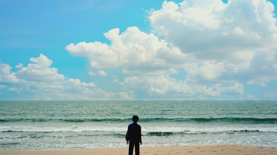 Water Politics And Government Sea Beach Wave Sand Blue Silhouette Standing Men