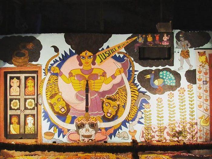 Wall Art... Wallart Greatwallsofindia Calcutta Kolkata PandalDecorations Ig_calcutta Kolkata_igers Onlyinbengal Sokolkata _soi _cic GoddessDurga Durgapuja DurgaPuja2015 DurgaPujaDiaries Canon VSCO Vscocam