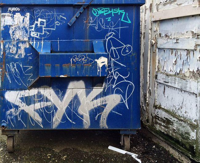Showcase March Graffiti & Streetart Dumpsterart Street Photography Blue Allyway