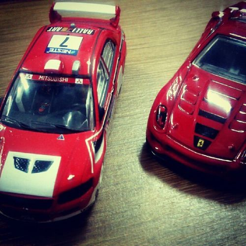 red's go race!!! Mitsubishi Mitsubishievolution Evo7 Ferrari599xx Ferrari Red Diecast HotWheels Instafamous Instagood Instanusantara Photooftheday Instanesia Pictureoftheday Bali INDONESIA LangitBaliPhotowork