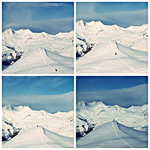 Snowboarding Mountains Winter White By CanvasPop