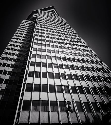 Low Angle View Architecture Building Exterior Skyscraper Modern Built Structure Tall City Outdoors Corporate Business Day Sky Snapseed Iphonephotography PhonePhotography IPhone7Plus ÍPhotoJournal Real People