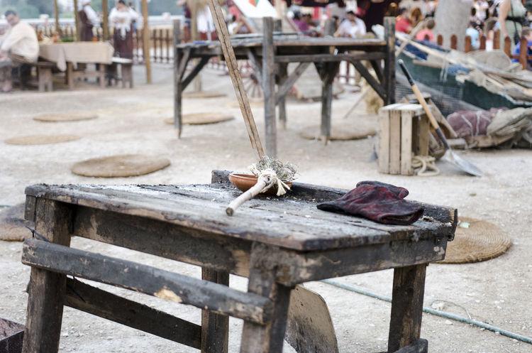 Renaissance Renaissance Festival Renaixement Camp Medieval Medieval Architecture No People Old Table Wood - Material