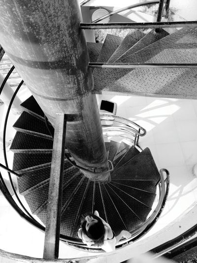 Spiral Stair Spiralstair High Angle View Black & White Spiral Staircases