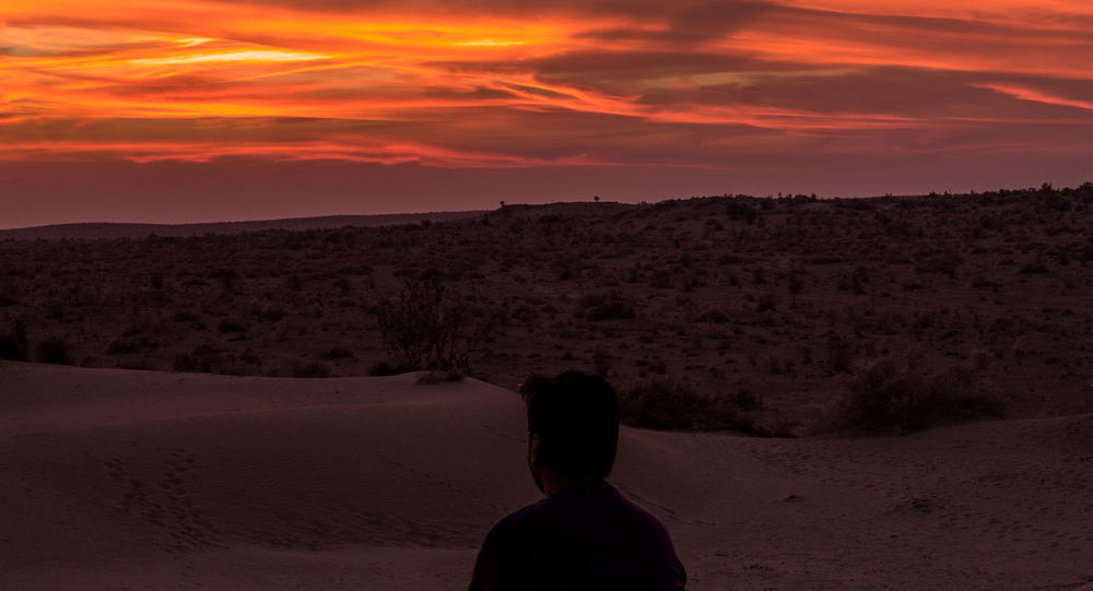 Sand Dunes at Sunset Beauty In Nature Cloud - Sky Desert India Jaisalmer Landscape Landscapes With WhiteWall Light Long Exposure Nature Orange Color Sand Dune Scenics Sky Sunset Tranquil Scene Tranquility Travel View Pictures In Motion Photography In Motion