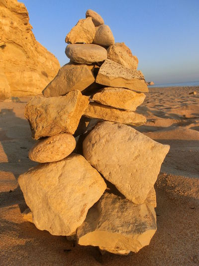 Stones Stone - Object Golden Hour Arid Climate Beach Beauty In Nature Clear Sky Day Desert Geology Landscape Nature No People Outdoors Physical Geography Rock - Object Rock Formation Salt - Mineral Sand Scenics Sea Sky Tranquil Scene Tranquility Travel Destinations Water