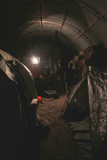 Army Farm Hiding Night Shelter Tough Under Cover