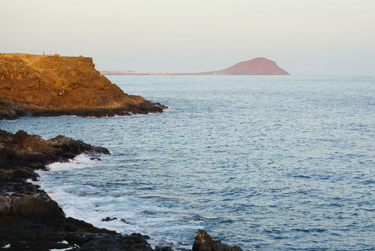 Tenerife España Beauty In Nature Clear Sky Day Horizon Over Water Nature No People Ocean Outdoors Rock - Object Scenics Sea Sky Tenerife Tenerife Island Teneriffa Tranquil Scene Tranquility Water
