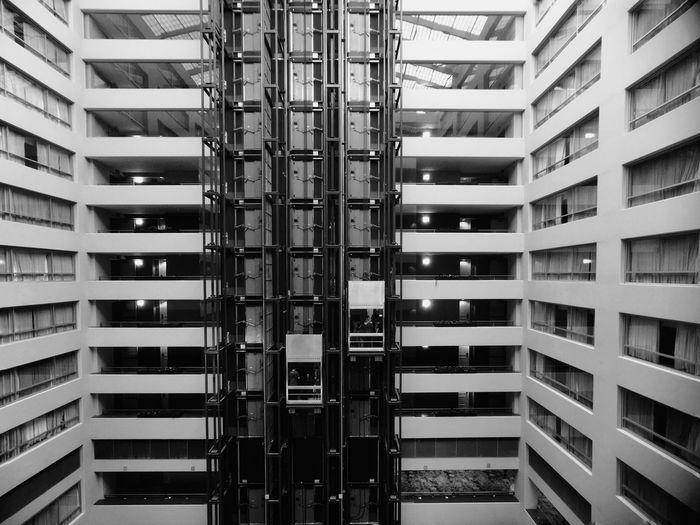 Black And White Friday Architecture Elevator Hotel